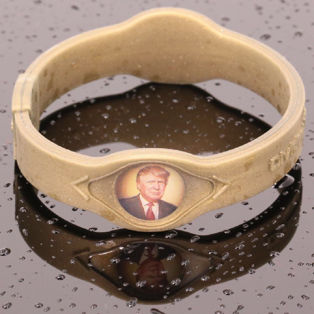 Gold President Trump 1st Gen. Hologram Silicone Band - Divided We Stand® Political & Social Gear