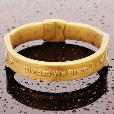 Collectors Item: Gold President Trump 1st Gen. Hologram Silicone Band - Divided We Stand® Political & Social Gear