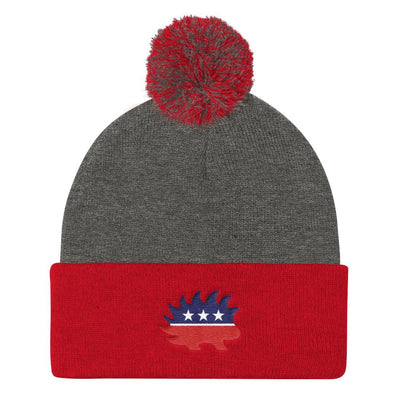 Libertarian Party Pom Pom Knit Cap - Divided We Stand® Political & Social Gear