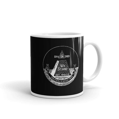 DWS® Logo Black Mug - Divided We Stand® Political & Social Gear