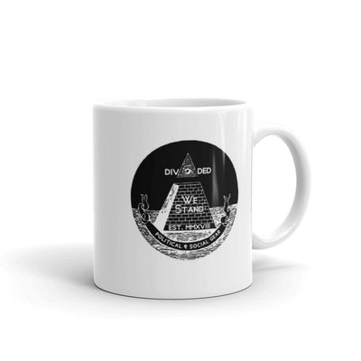DWS® Logo White Mug - Divided We Stand® Political & Social Gear