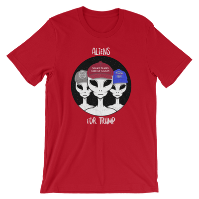 Aliens For Trump Unisex Tee - Divided We Stand® Political & Social Gear