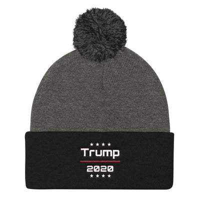 Trump 2020 Pom Pom Knit Beanie Cap - Divided We Stand® Political & Social Gear