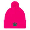 Cannabis Pom Pom Knit Cap - Divided We Stand® Political & Social Gear