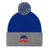 Republican Party Pom Pom Knit Beanie Cap - Divided We Stand® Political & Social Gear