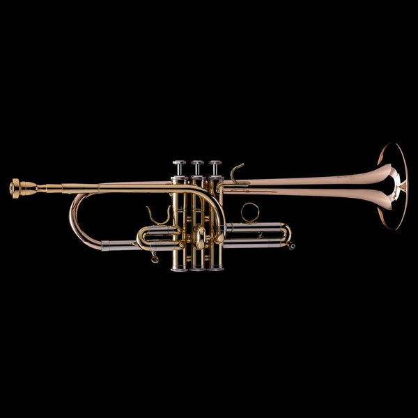 An image of a Eb/D Trumpet from Wessex Tubas, facing right
