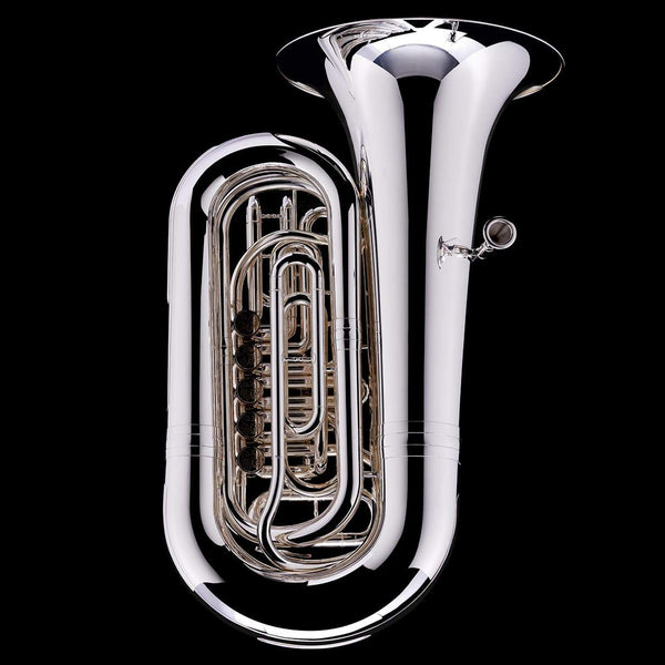 An image of a BBb 5/4 5-Rotary-Valve Tuba 'Luzern' in silver-plate from Wessex Tubas