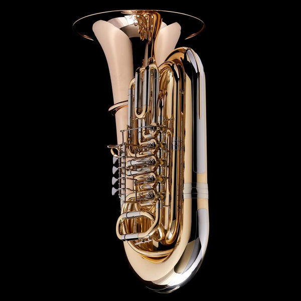 An image of the back of a BBb 5/4 5-Rotary-Valve Tuba 'Luzern' from Wessex Tubas