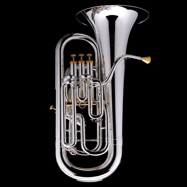 An image of a Bb Compensated Euphonium 'Dolce' in silver-plate from Wessex Tubas