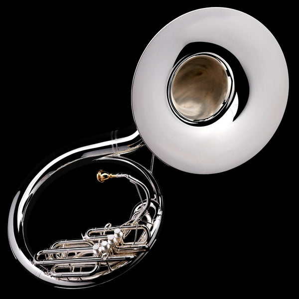 An image of a Eb Sousaphone (4-valve) from Wessex Tubas in silver