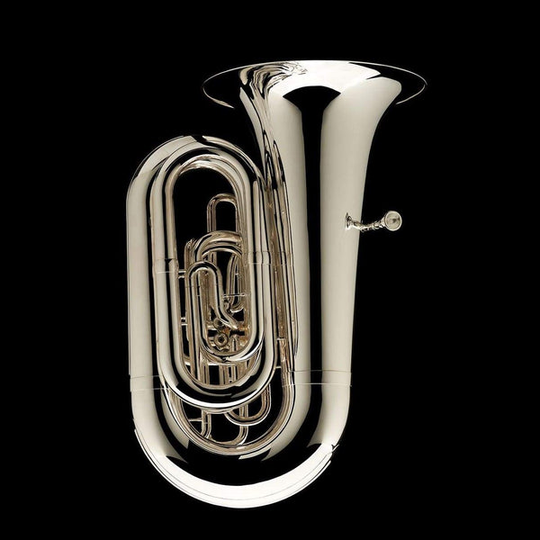 An alternative image of a BBb 6/4 Tuba with 5-valves 'Prokofiev' in silver-plate from Wessex Tubas