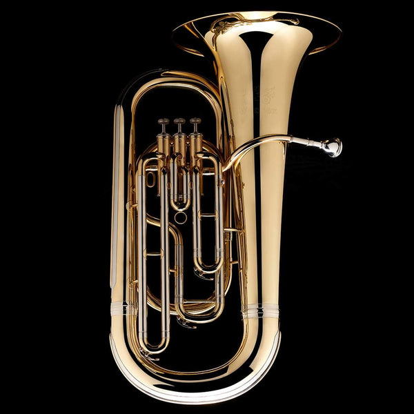 An image of the front of a Eb Tuba Junior 'Elf' (student) from Wessex Tubas