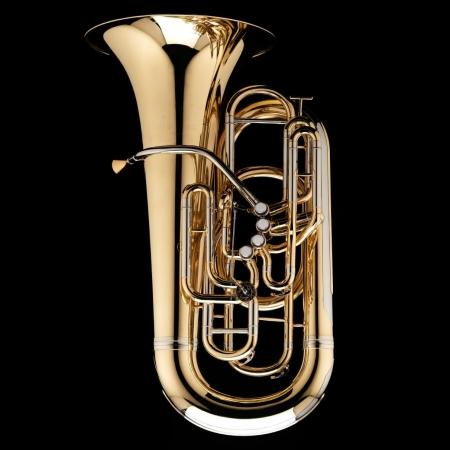 A image of a Eb Front Piston Tuba 'Gnagey' from Wessex Tubas, in Lacquer