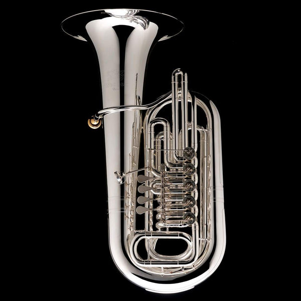 An image of a Eb Rotary Tuba 'Danube' from Wessex Tubas in silver