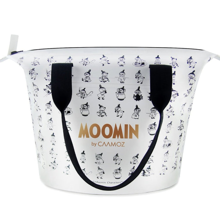 Moomin waterproof Shoulder bag. White handbag with gold moomin print