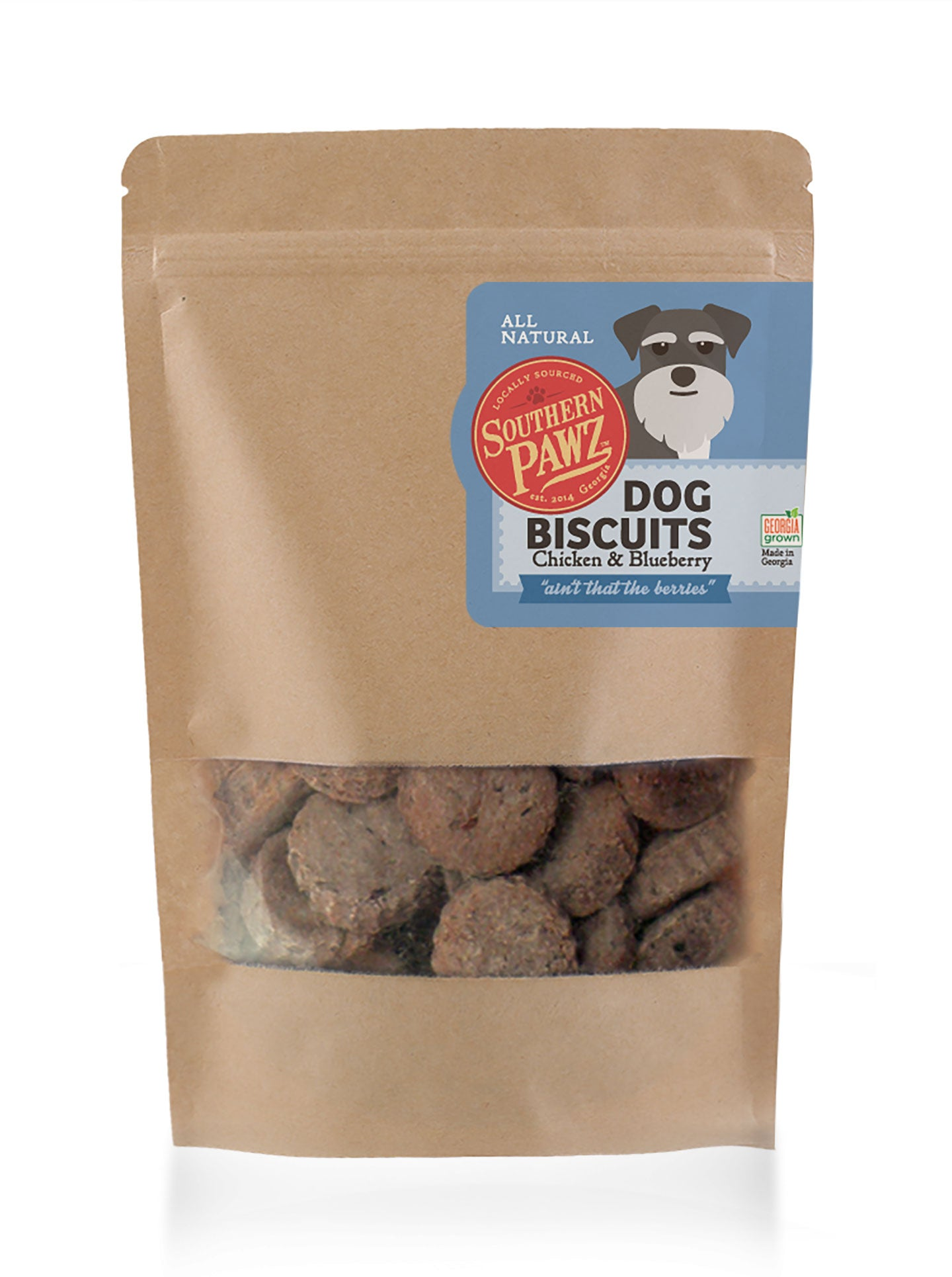 Dog Biscuits - Chicken and Blueberry 16 oz Resealable Bag
