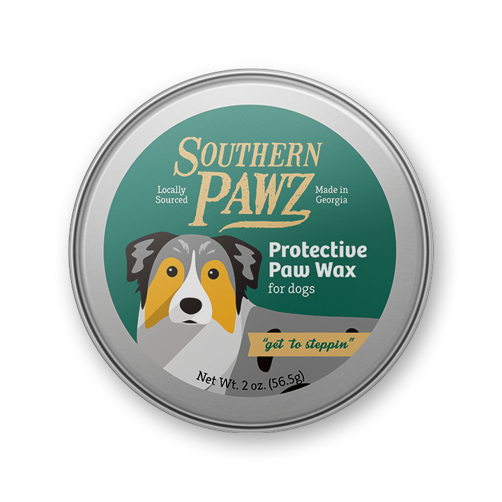 "Protective Paw Wax ""get to steppin"" - 2 oz. tin"