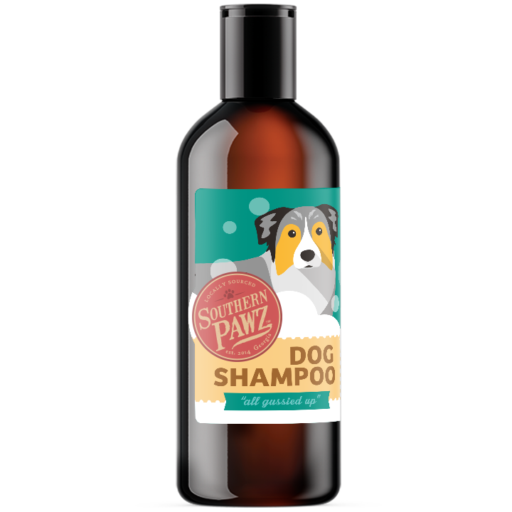 "Goat Milk Dog Shampoo - ""all gussied up""  8 oz. Bottle"