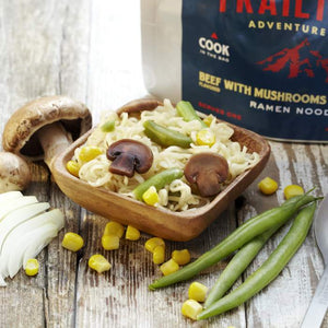 Trailtopia Ramen Noodles Beef flavored with Vegetables and Mushrooms