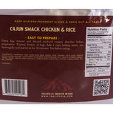 nutrition info for Trailtopia cajun smack chicken and rice serves two. This instant meal is gluten free, dairy free and is an easy backpacking meal