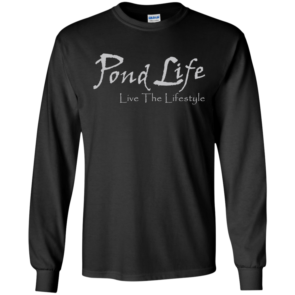 Pond Life Classic Logo Men's LS Ultra Cotton T-Shirt