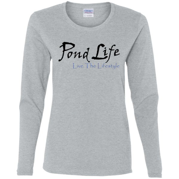 Pond Life Classic Logo Ladies' Cotton LS T-Shirt