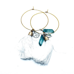 Give Peace a Chance Tassel Hoops
