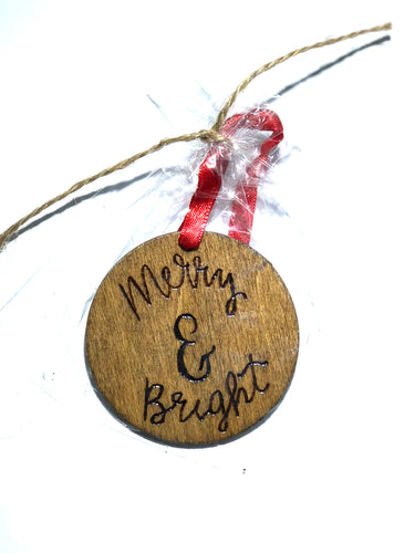 Merry & Bright Christmas Ornament