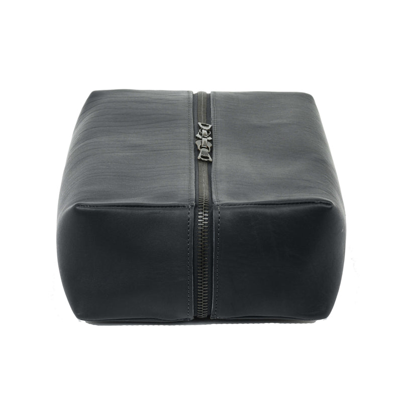 Isaac Reina Large Magic Box for Travel Leather Black