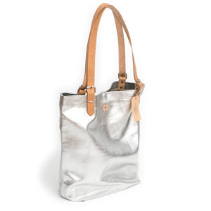 Atem Silver Leather Bag Lea