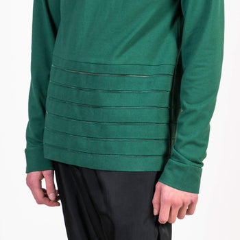 Cottweiler Golf Polo green detail