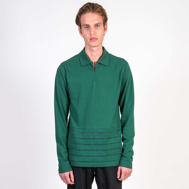 Cottweiler Golf Polo green front