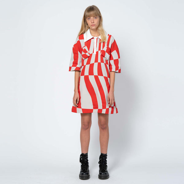 Screen Printed Stretch Polo Dress with Oeko-Tex Ink