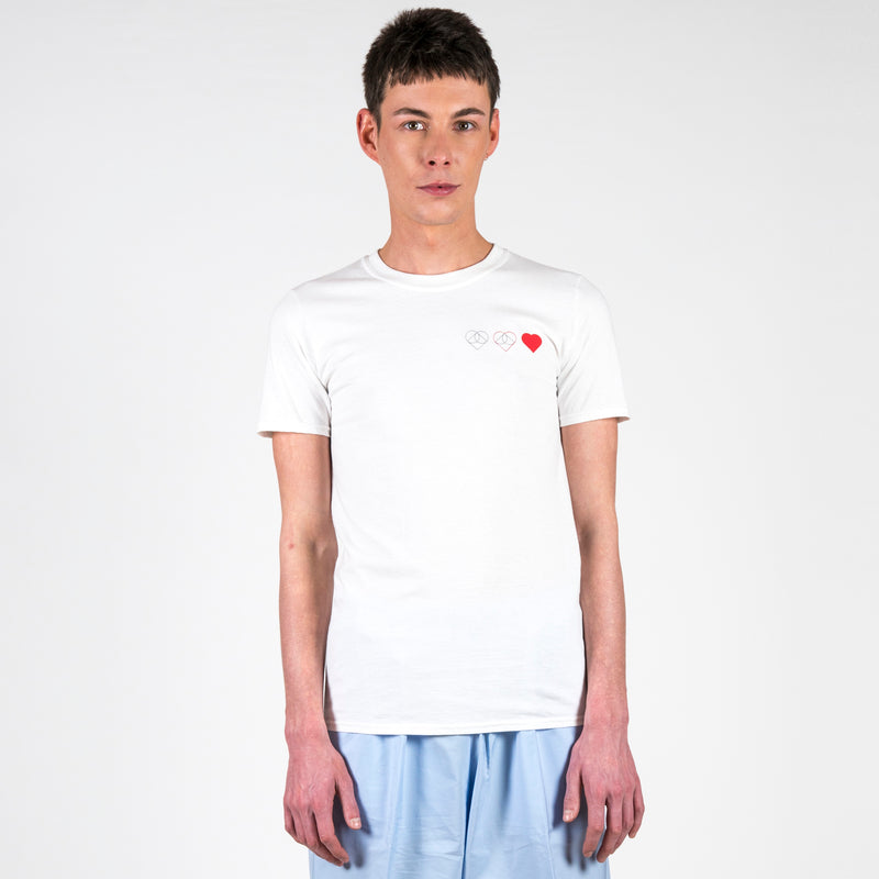 Hien Le Let Love Rule T-Shirt White Heart Unisex