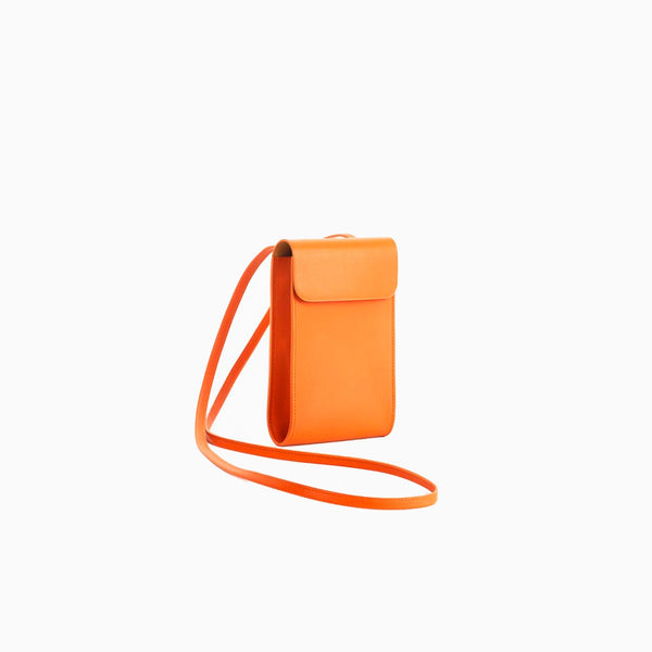 Tangerine Round Flap Small Shoulder Bag