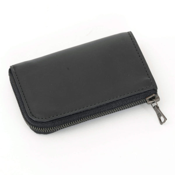 Black Mini Zipped Wallet