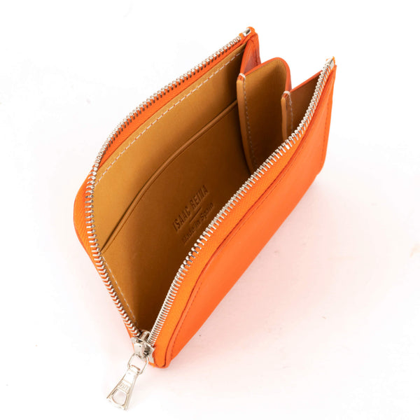 Tangerine Mini Zipped Wallet
