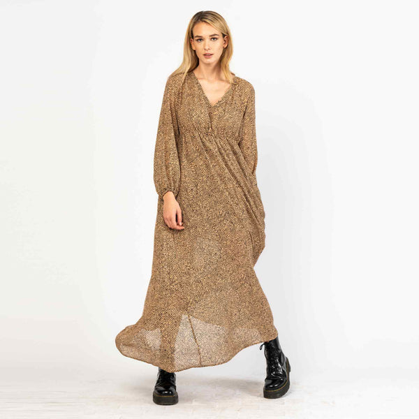 Maxi Dress Ellis Reptile Print