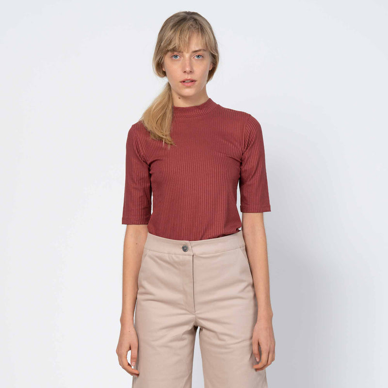 Mini Turtle-Neck T-Shirt Nina Framboise
