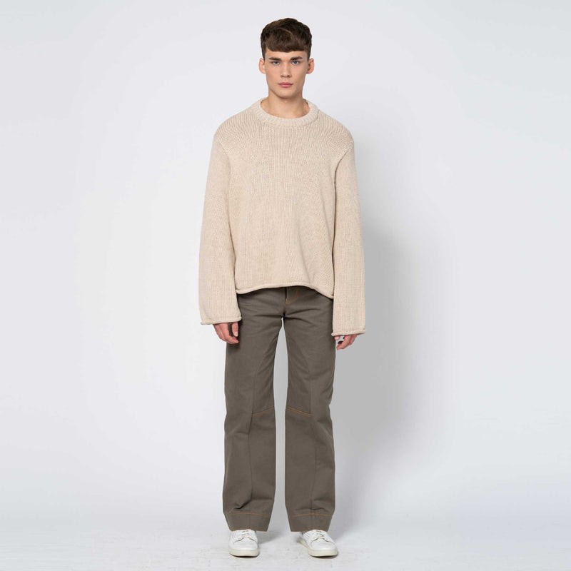 Heavy Knit Jumper Sona Sand