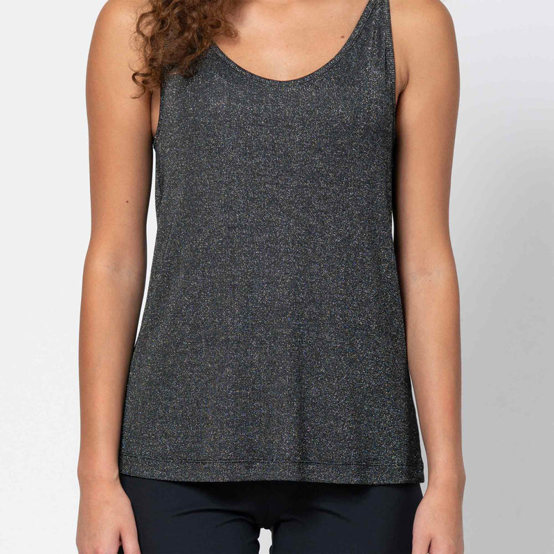 Slip Top Triangle Silvery Black