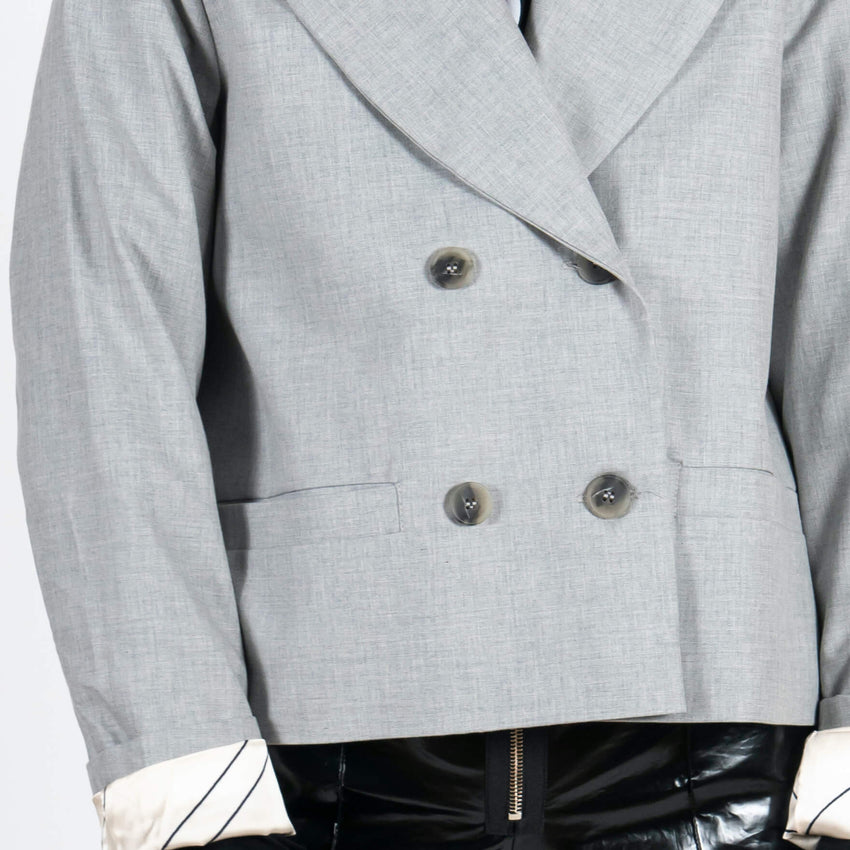 Jan 'n June Blazer Weedon Grey Detail