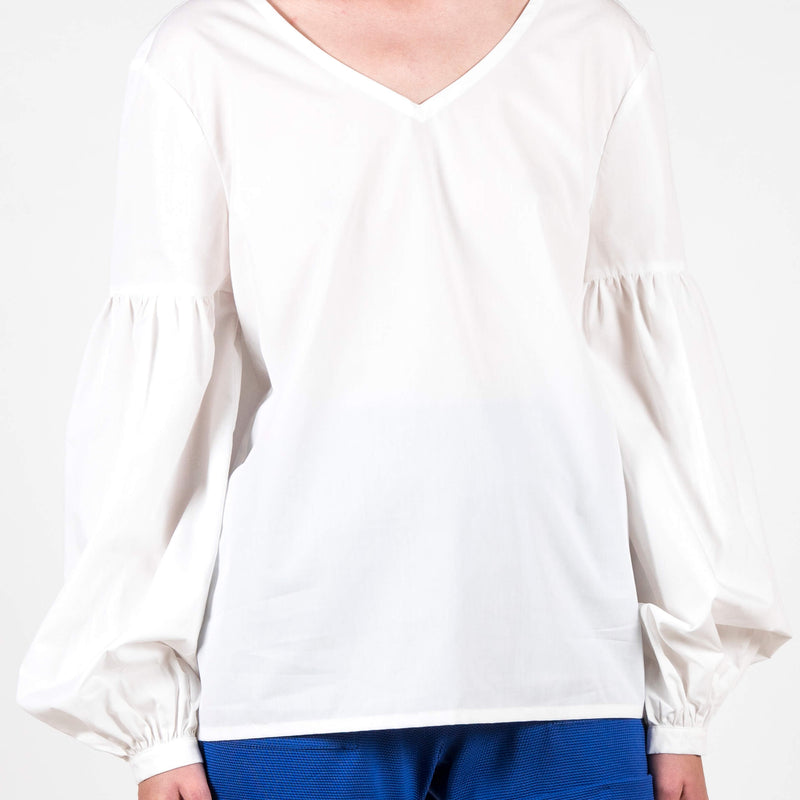 Jan 'n June Blouse Vincenza White Detail