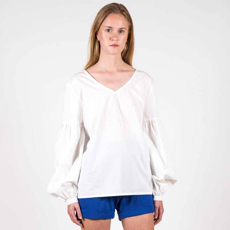 Jan 'n June Blouse Vincenza White Front