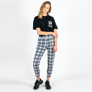 Jan 'n June Lounge Pants Tao Check White Grey