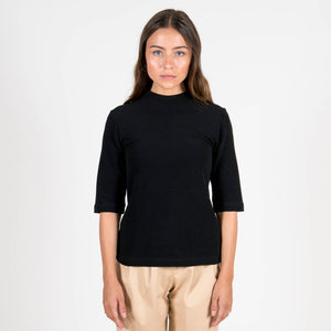 Jan 'n June Mini Turtle-Neck T-Shirt Nina Black