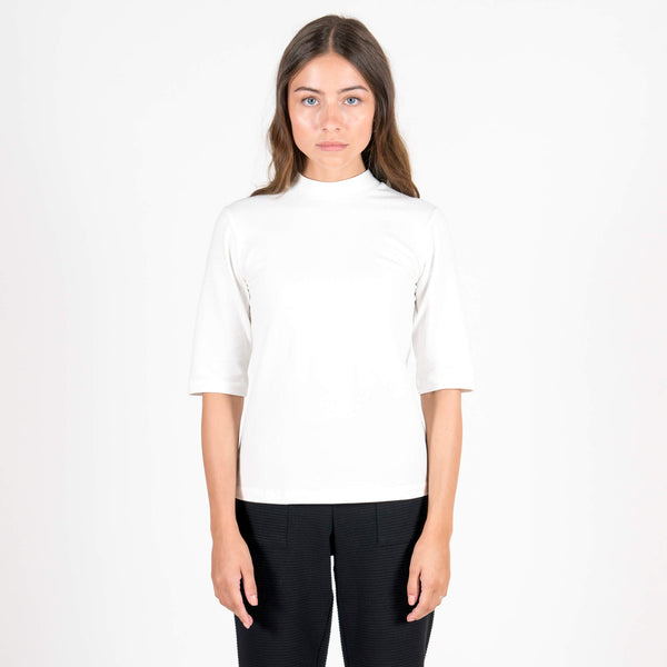 Jan 'n June Mini Turtle-Neck T-Shirt Nina White