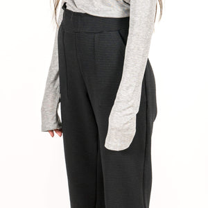 Jan 'n June Pants Tao Rib Black