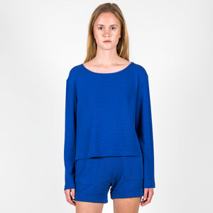 Pullover Cosmos Piquee Eletric Blue