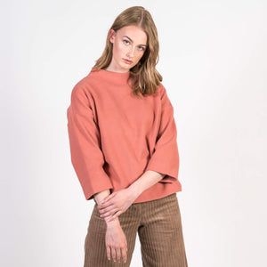 Pullover Kallisto Corduroy Sweat Evening Sand